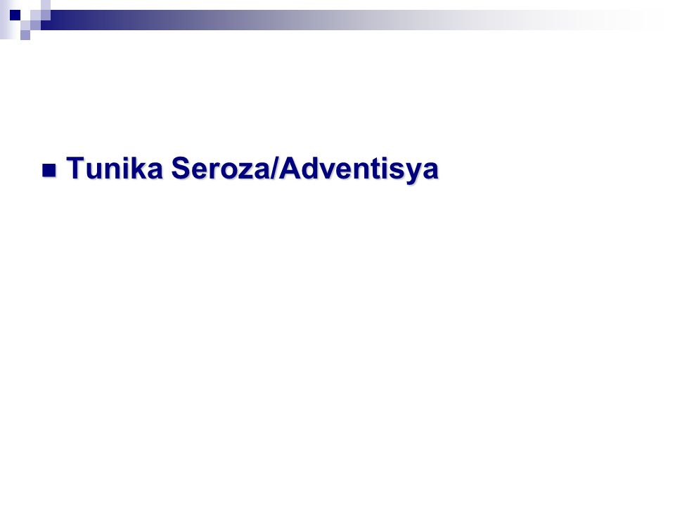 Tunika Seroza/Adventisya