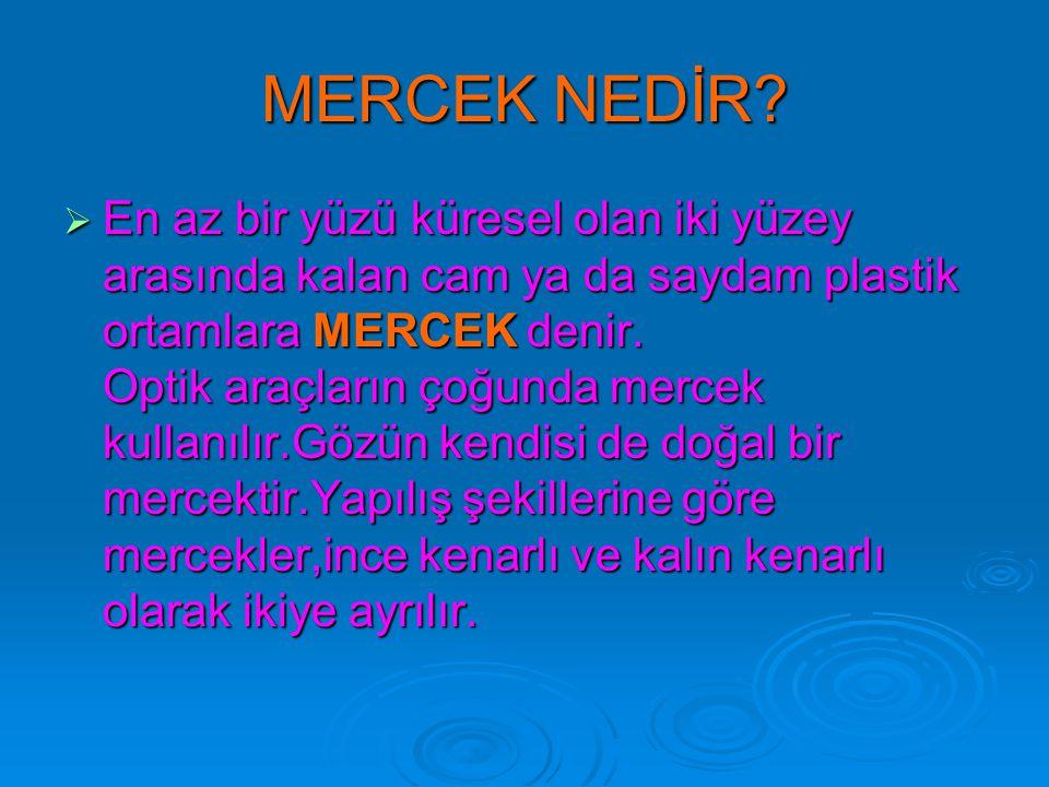 MERCEK NEDİR
