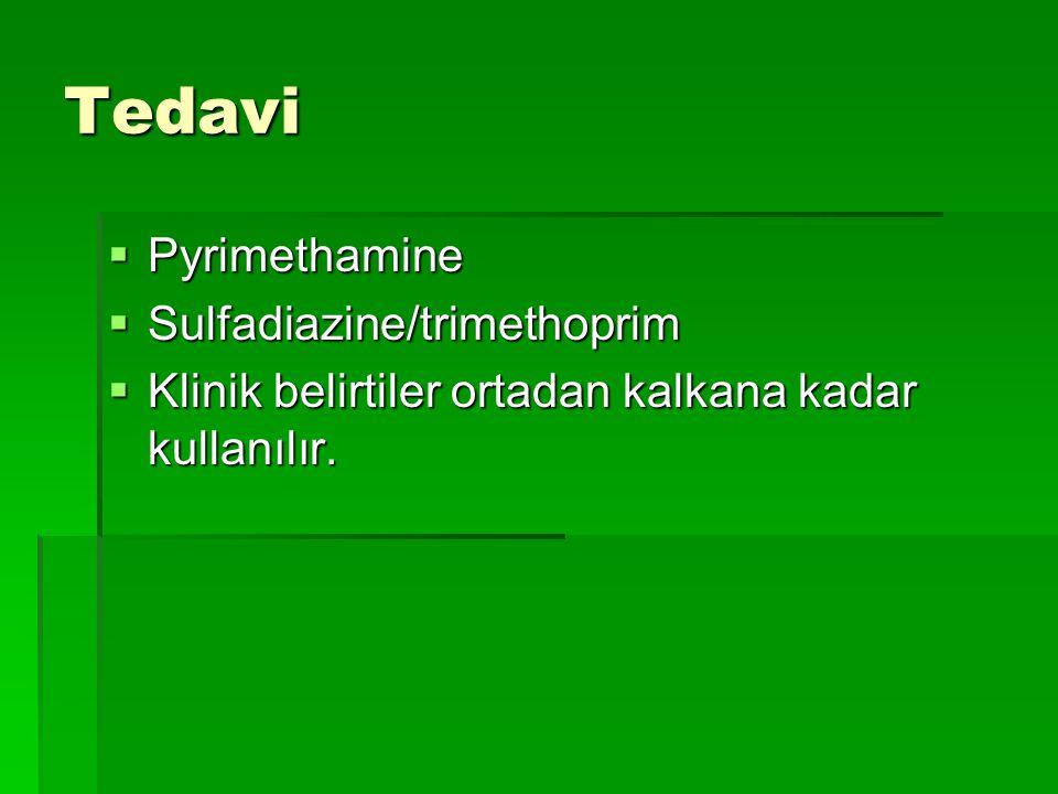 Tedavi Pyrimethamine Sulfadiazine/trimethoprim