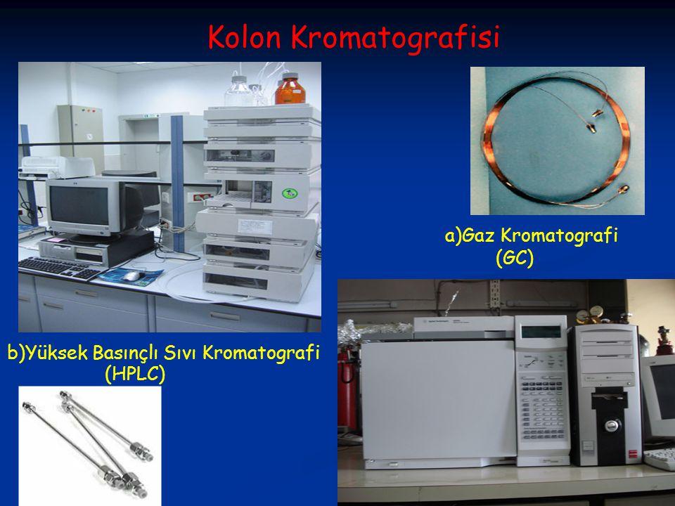 Kolon Kromatografisi a)Gaz Kromatografi (GC)