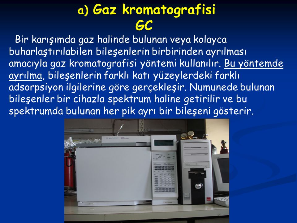GC a) Gaz kromatografisi