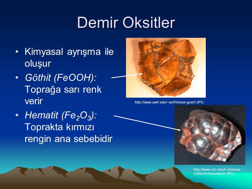 Demir Oksitler Kimyasal ayrışma ile oluşur