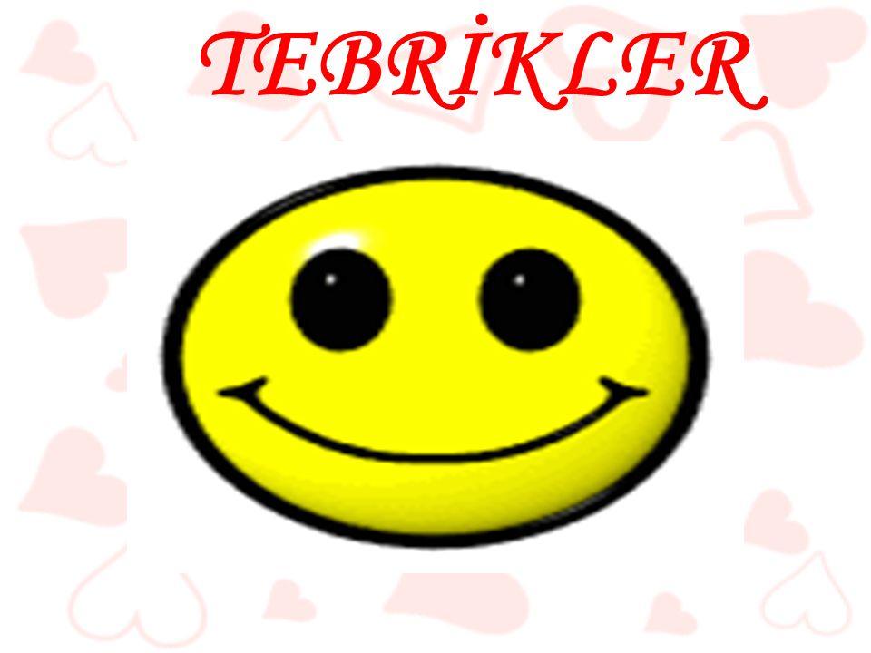 TEBRİKLER