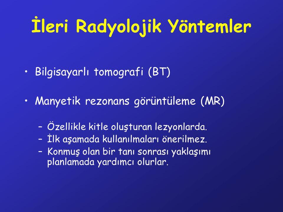 İleri Radyolojik Yöntemler