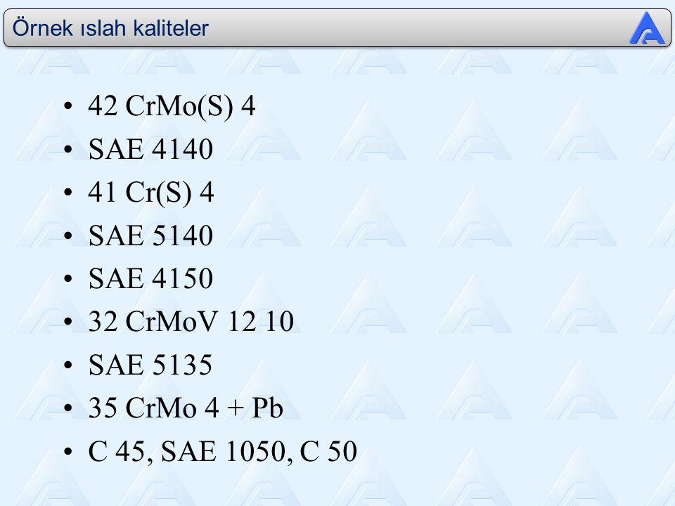 42 CrMo(S) 4 SAE 4140 41 Cr(S) 4 SAE 5140 SAE 4150 32 CrMoV 12 10