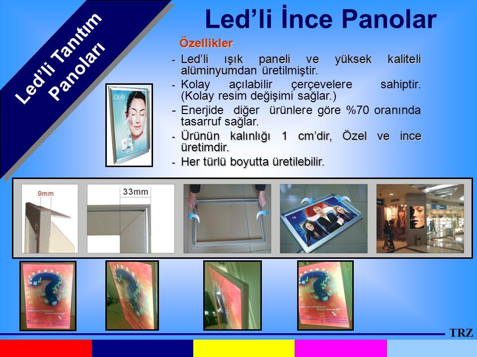 Led'li Tanıtım Panoları