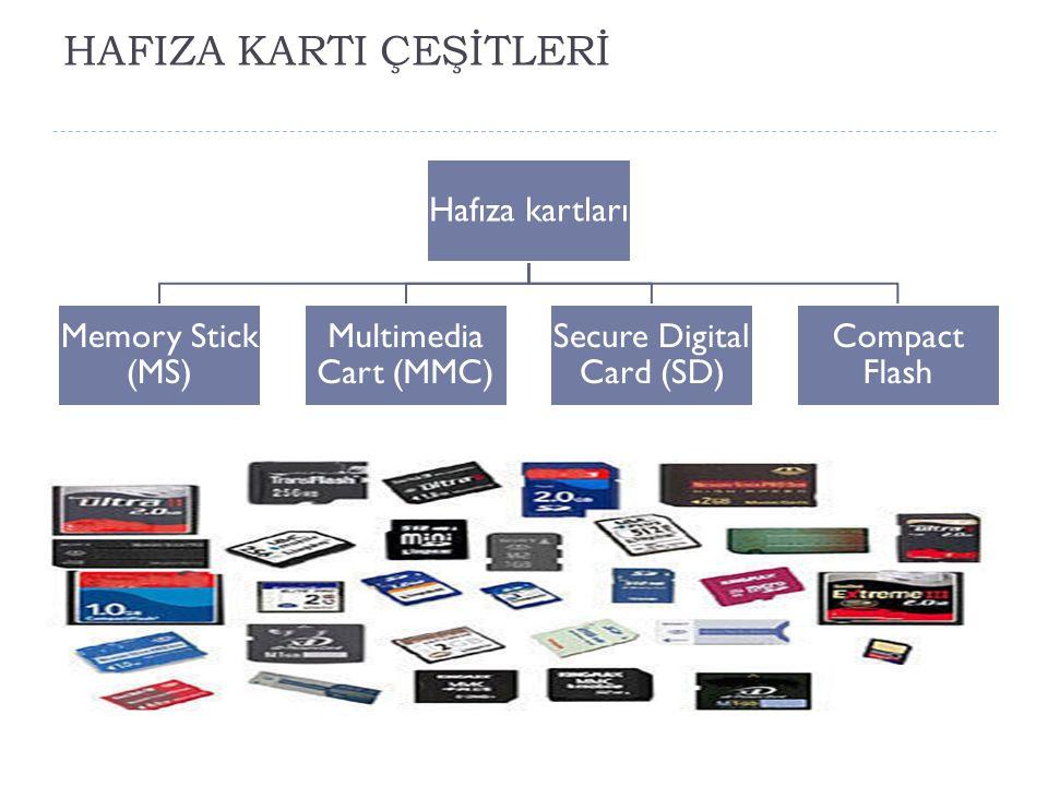 HAFIZA KARTI ÇEŞİTLERİ
