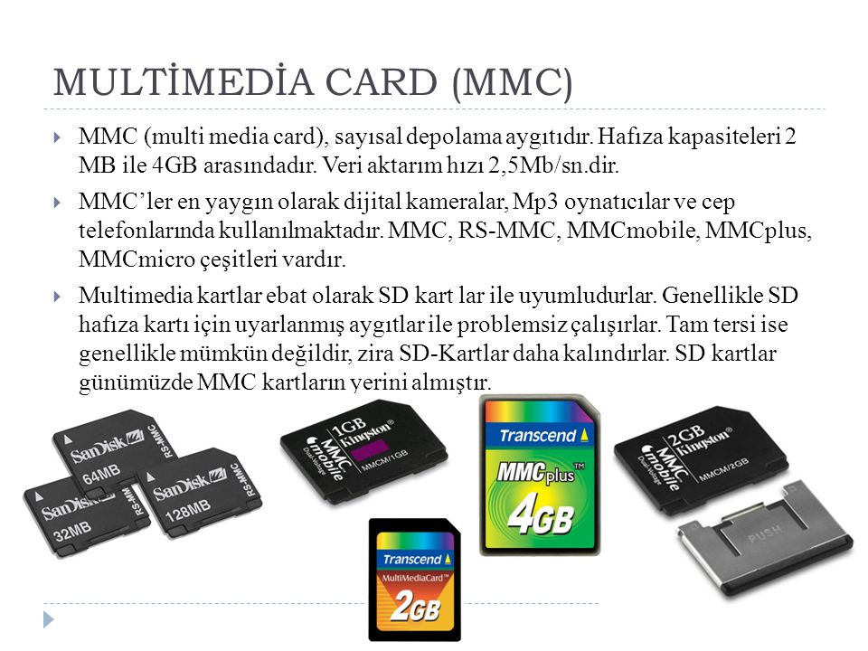 MULTİMEDİA CARD (MMC)