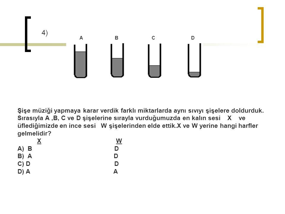 4) A B C D.