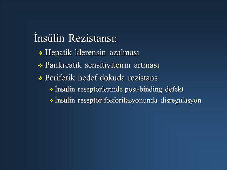 İnsülin Rezistansı: Hepatik klerensin azalması