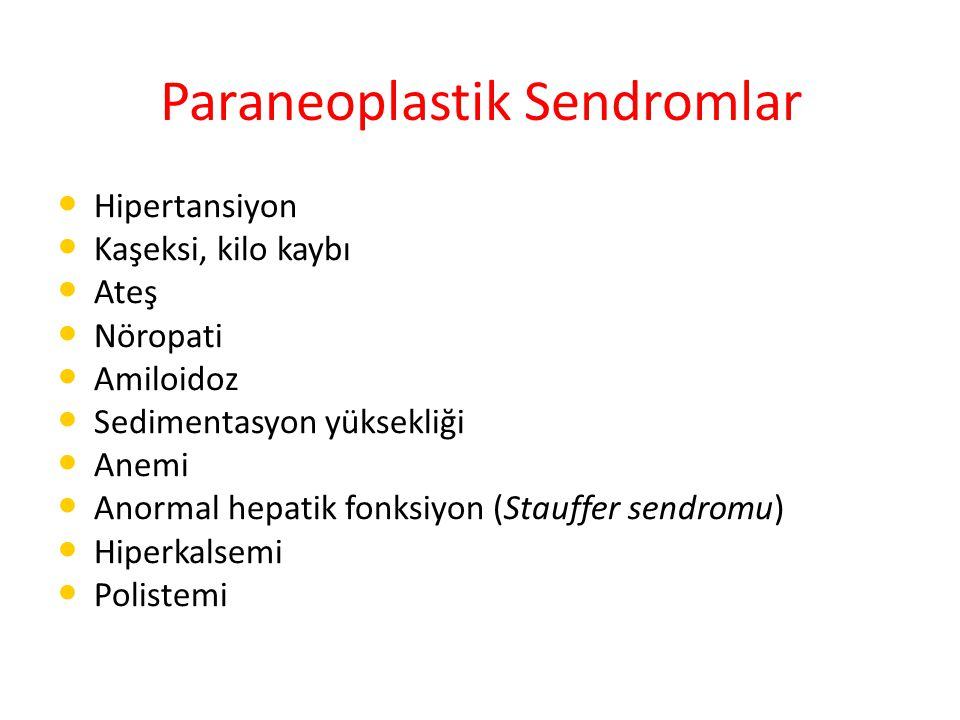 Paraneoplastik Sendromlar
