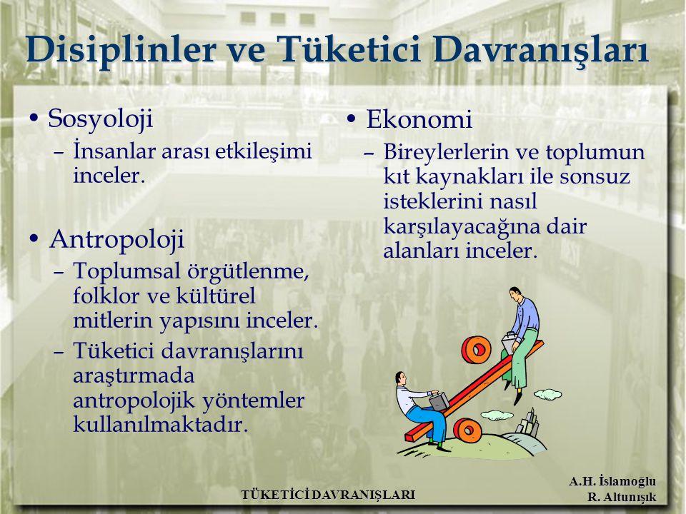 Disiplinler ve Tüketici Davranışları