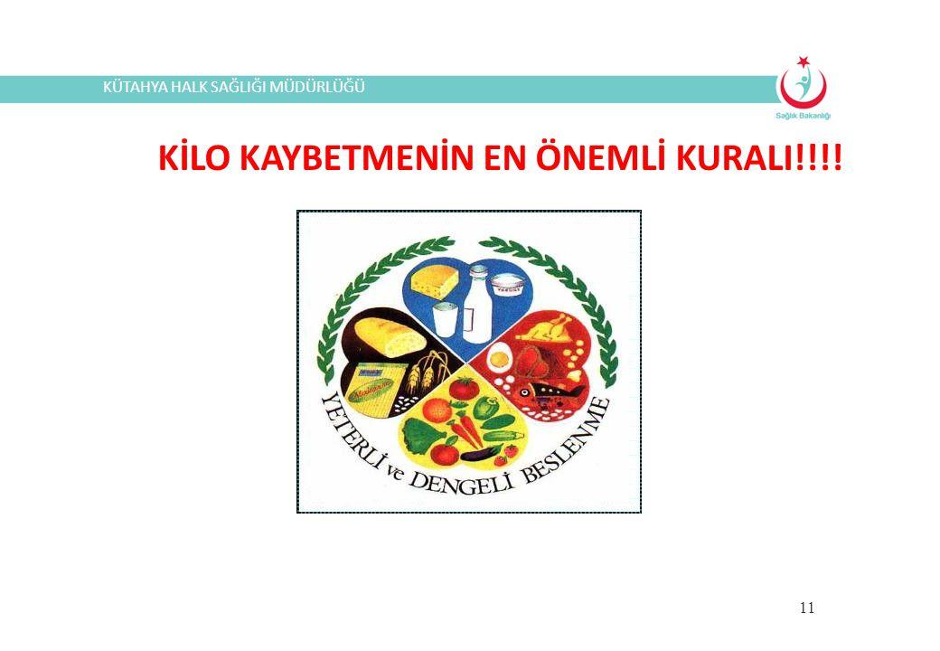 KİLO KAYBETMENİN EN ÖNEMLİ KURALI!!!!