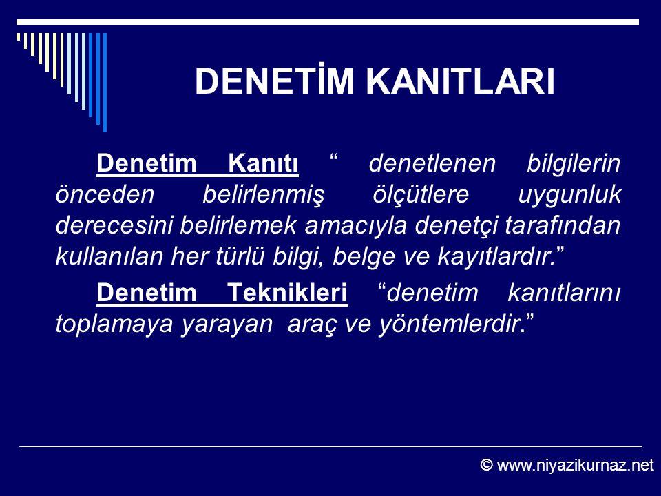 DENETİM KANITLARI