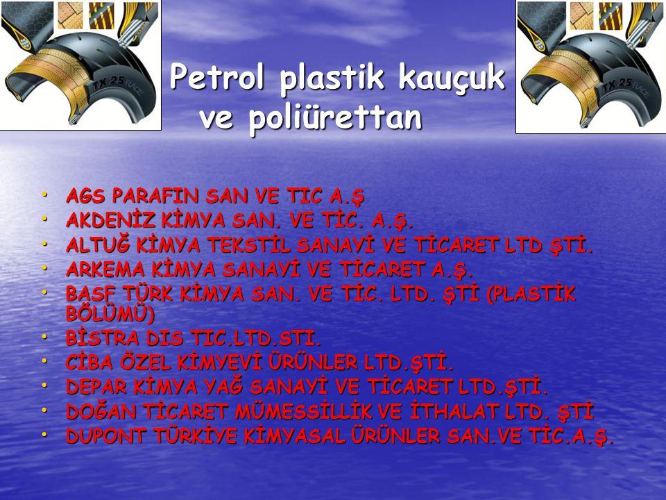 Petrol plastik kauçuk ve poliürettan