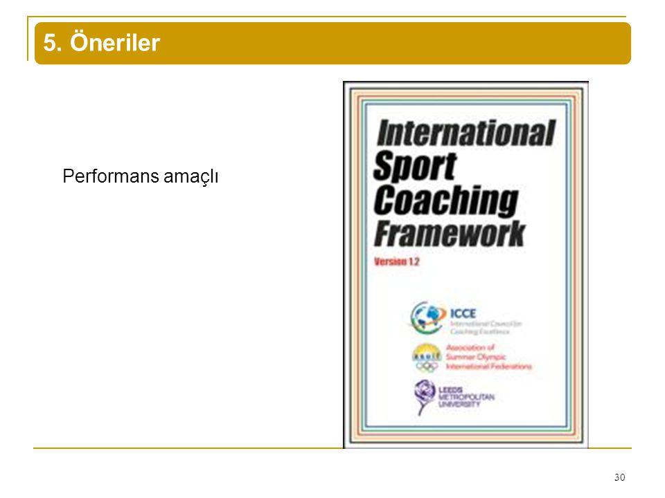5. Öneriler Performans amaçlı