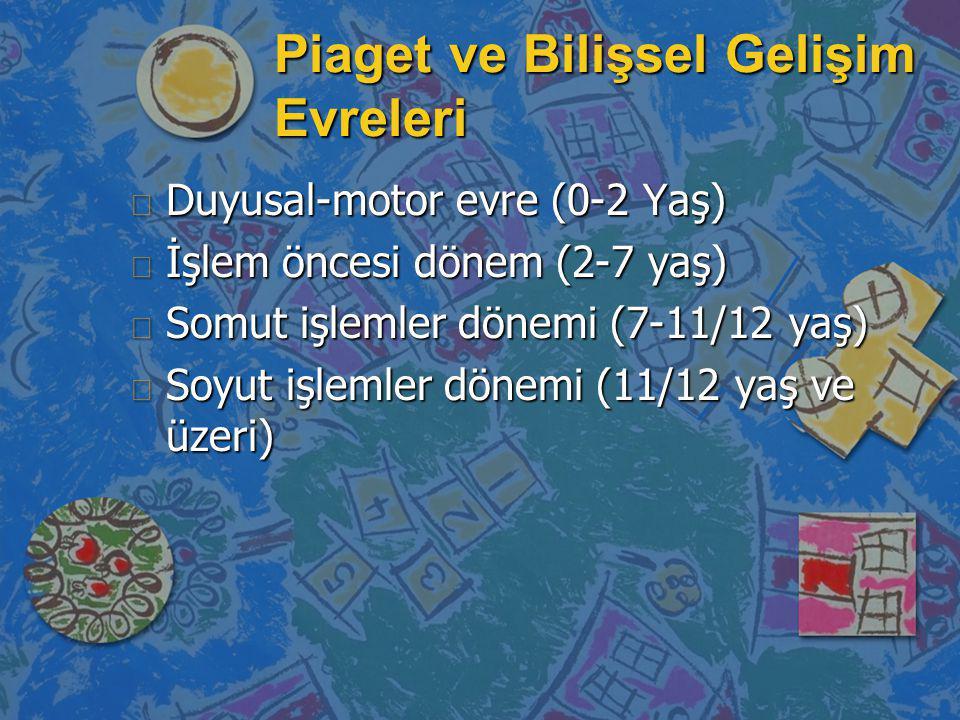 Piaget ve Bilişsel Gelişim Evreleri