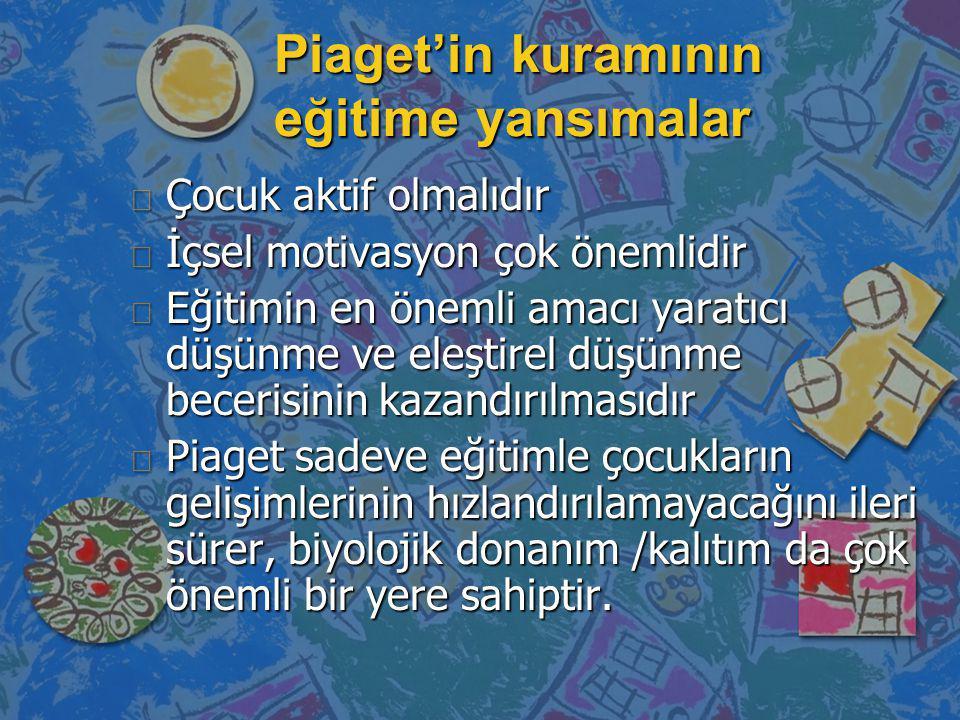 Piaget'in kuramının eğitime yansımalar