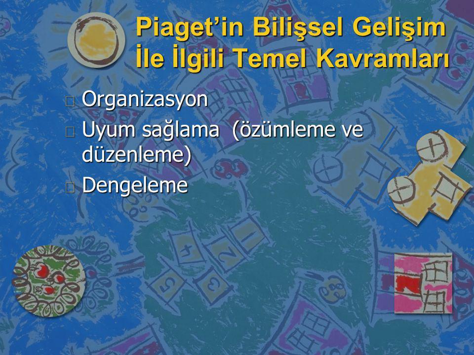 Piaget'in Bilişsel Gelişim İle İlgili Temel Kavramları