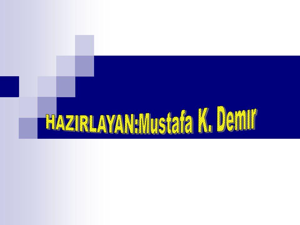 HAZIRLAYAN:Mustafa K. Demır
