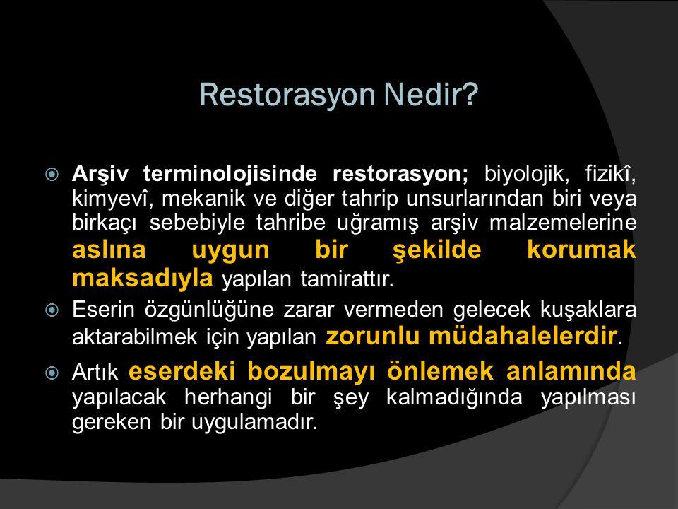 Restorasyon Nedir