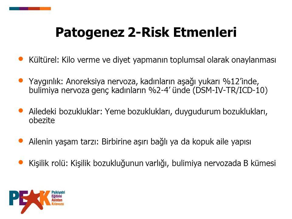Patogenez 2-Risk Etmenleri