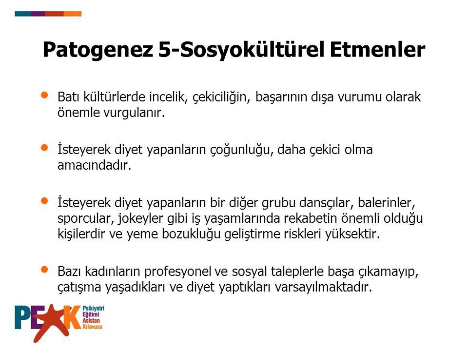 Patogenez 5-Sosyokültürel Etmenler