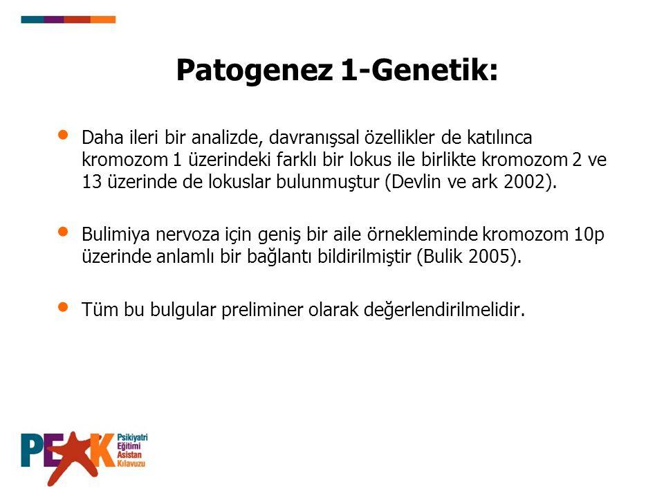 Patogenez 1-Genetik: