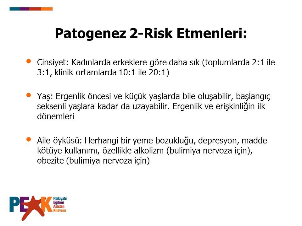 Patogenez 2-Risk Etmenleri: