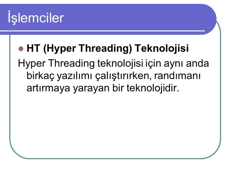 İşlemciler HT (Hyper Threading) Teknolojisi