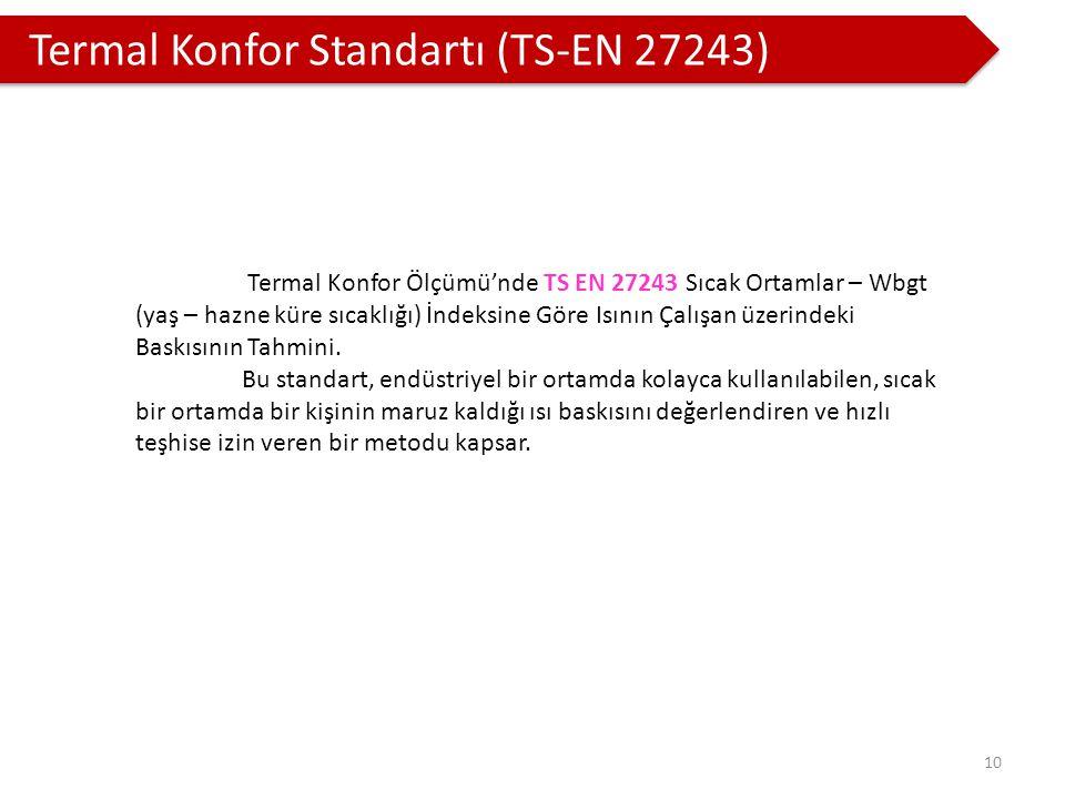Termal Konfor Standartı (TS-EN 27243)