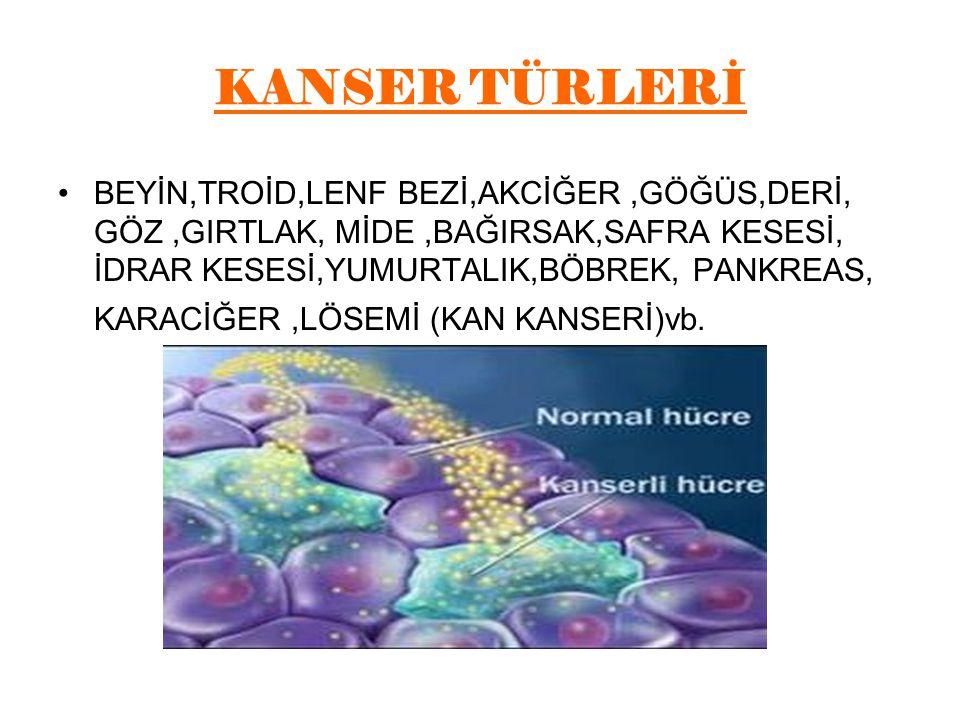 KANSER TÜRLERİ