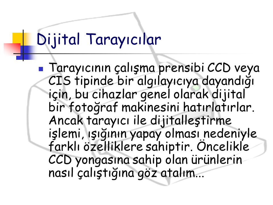 Dijital Tarayıcılar