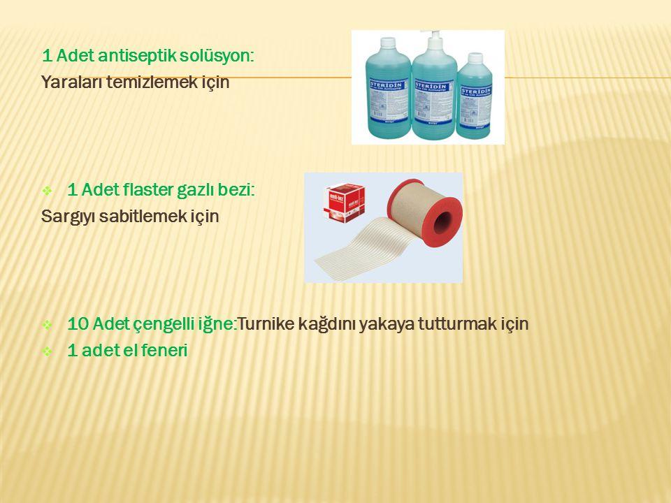 1 Adet antiseptik solüsyon: