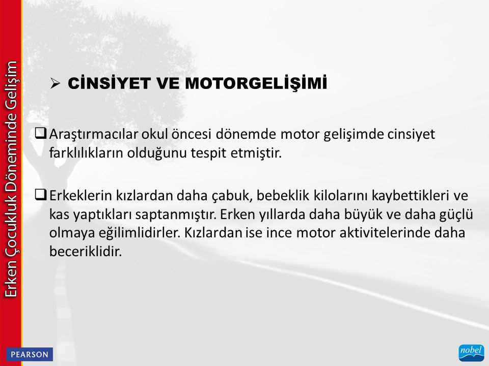 CİNSİYET VE MOTORGELİŞİMİ