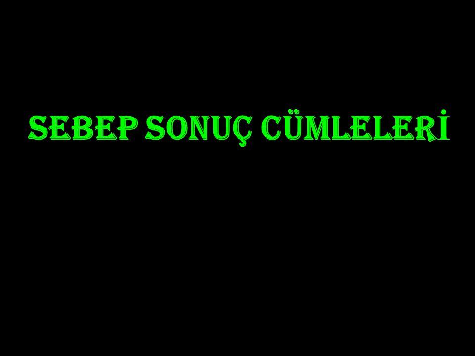 SEBEP SONUÇ CÜMLELERİ