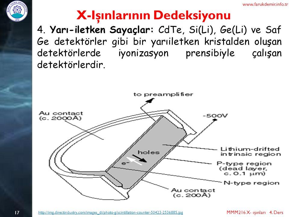 X-Işınlarının Dedeksiyonu