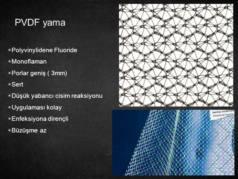 PVDF yama Polyvinylidene Fluoride Monoflaman Porlar geniş ( 3mm) Sert