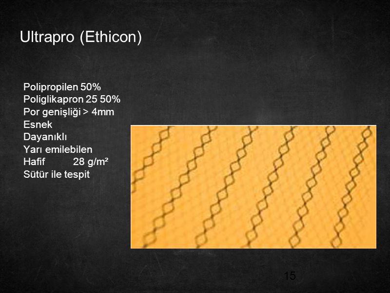 Ultrapro (Ethicon) Polipropilen 50% Poliglikapron 25 50%
