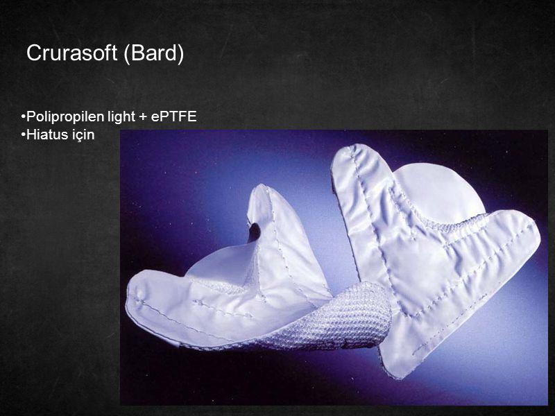 Crurasoft (Bard) Polipropilen light + ePTFE Hiatus için