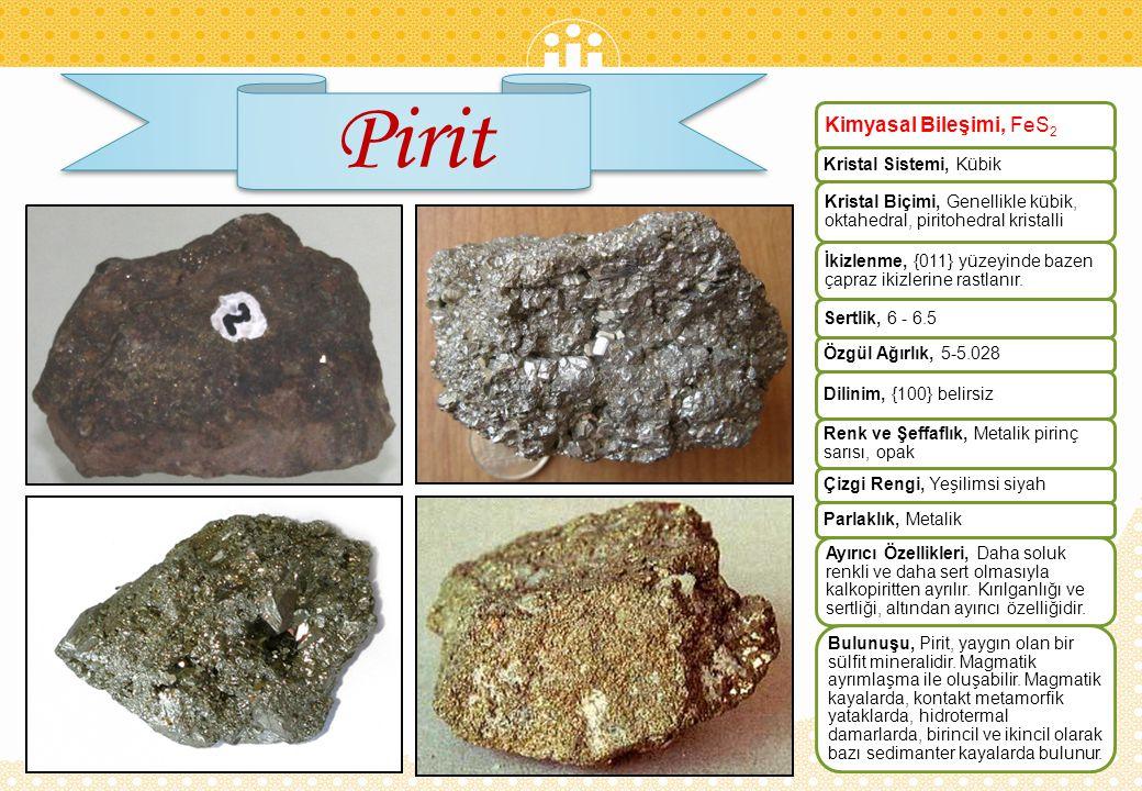 Pirit Kimyasal Bileşimi, FeS2 Kristal Sistemi, Kübik