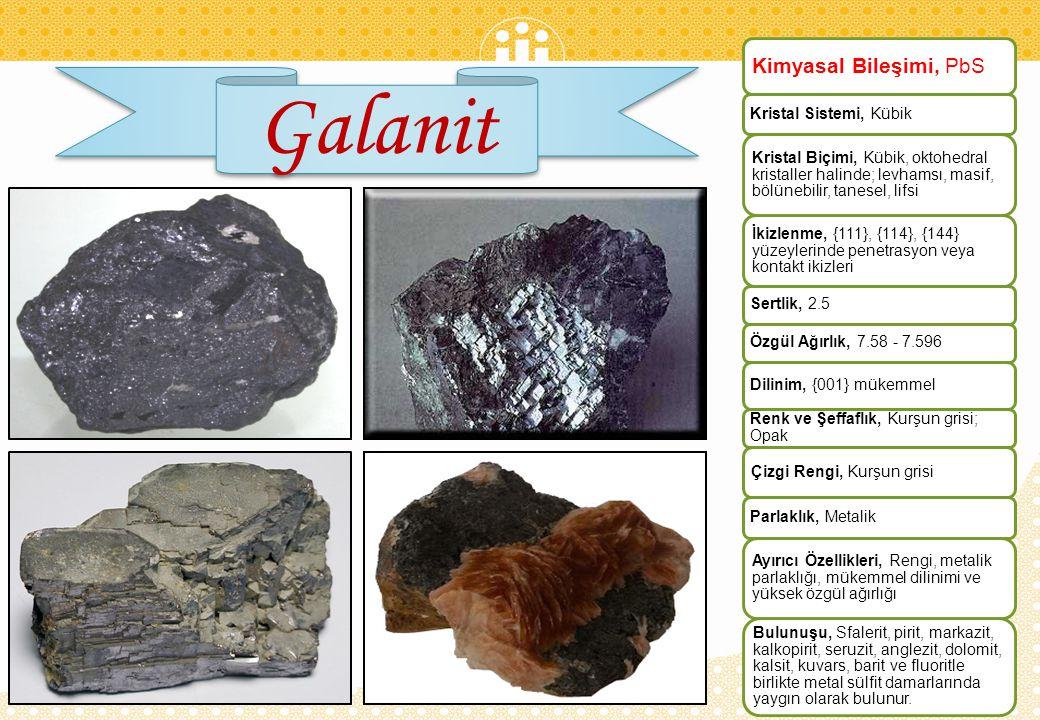 Galanit Kimyasal Bileşimi, PbS Kristal Sistemi, Kübik