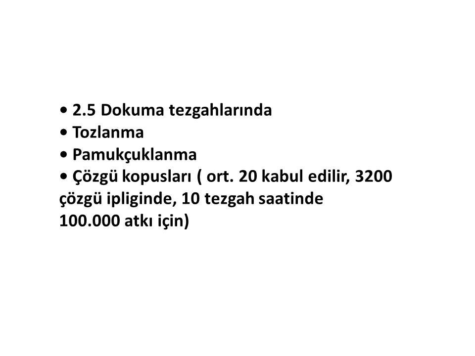 • 2.5 Dokuma tezgahlarında