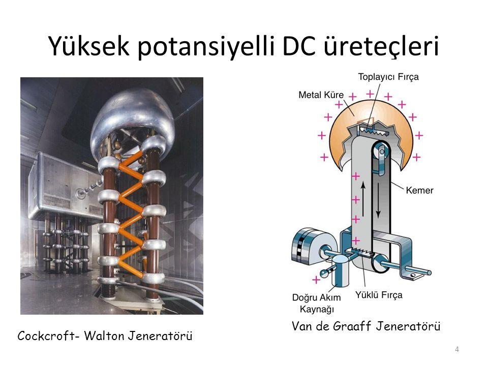 Yüksek potansiyelli DC üreteçleri