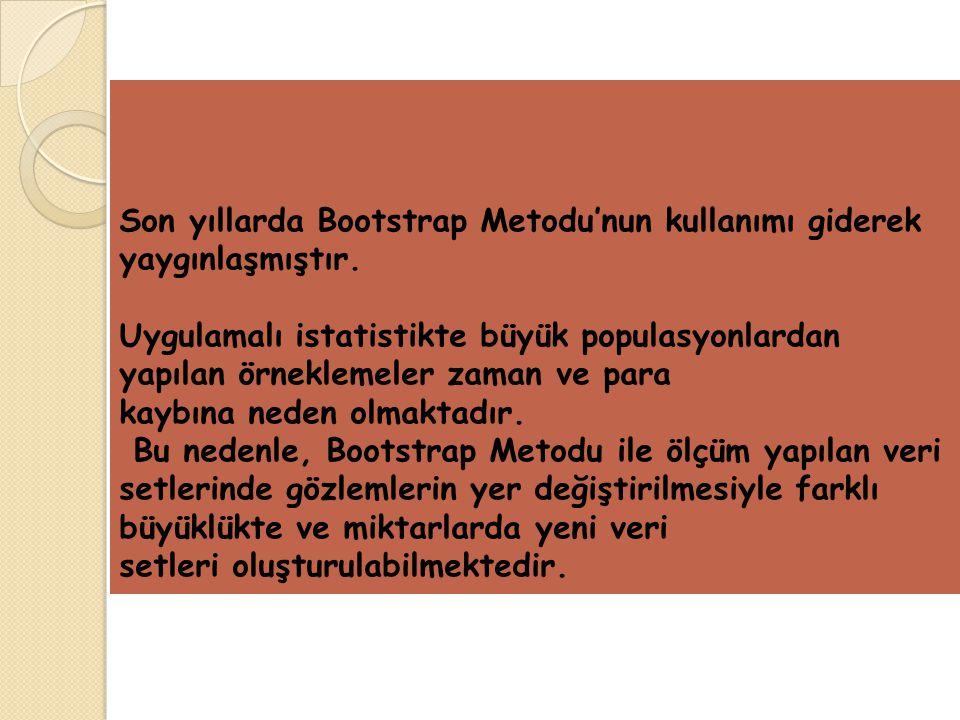 Son yıllarda Bootstrap Metodu'nun kullanımı giderek yaygınlaşmıştır.