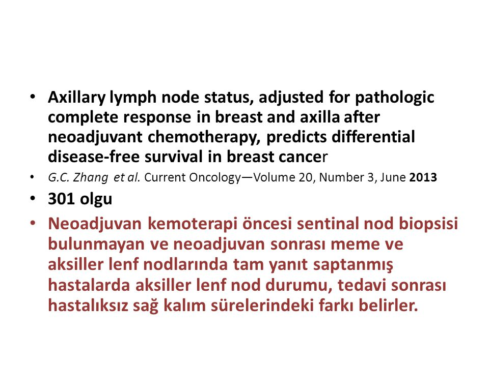 Axillary lymph node status, adjusted for pathologic complete response in breast and axilla after neoadjuvant chemotherapy, predicts differential disease-free survival in breast cancer