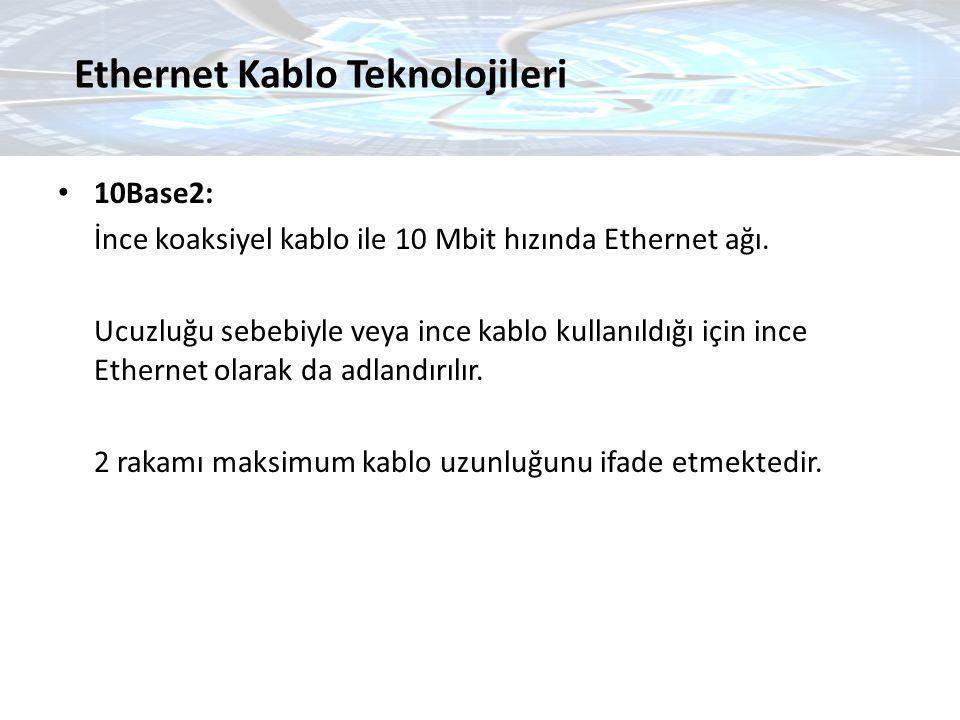 Ethernet Kablo Teknolojileri