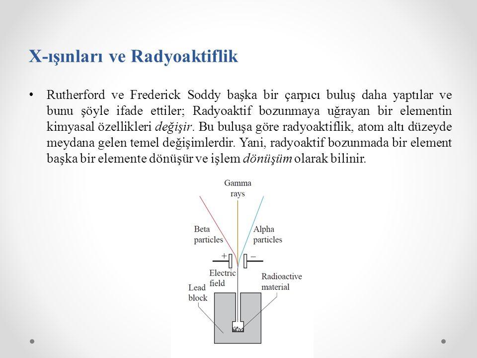 X-ışınları ve Radyoaktiflik