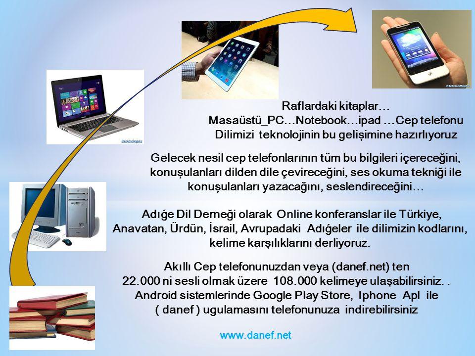 Raflardaki kitaplar… Masaüstü_PC…Notebook…ipad …Cep telefonu