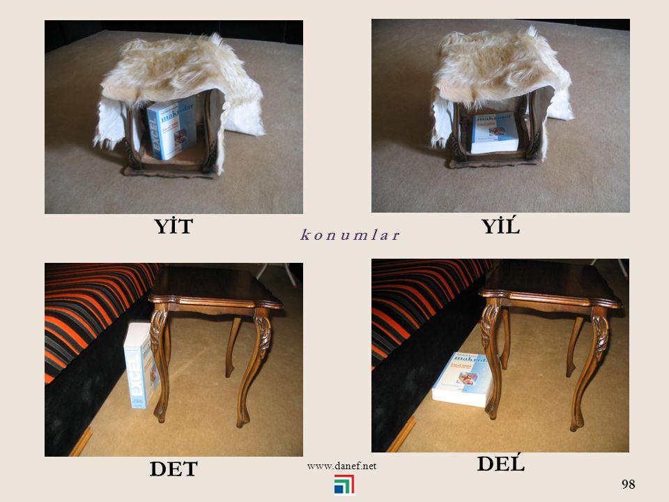 YİT YİĹ k o n u m l a r www.danef.net DEĹ DET